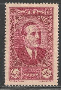 Lebanon #141 (A24) VF MINT VLH - 1937-40 4.50p President Emile Edde