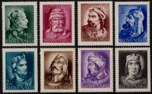 ✔️ SLOVAKIA 1944 - PRINCE PRIBINA - SC.95/102 MNH OG [SK134]