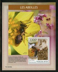 Togo 2019 Bienen Souvenir Blatt Postfrisch