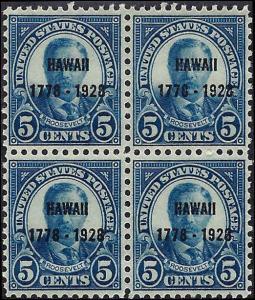 648 Mint,OG,LH/NH... Block of 4... SCV $65.00