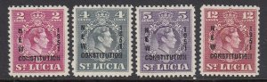 St Lucia 152-5 New Constitution mnh