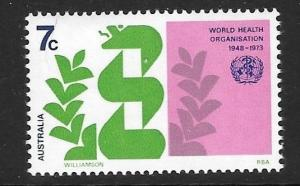 AUSTRALIA SG536 1973 W.H.O MNH