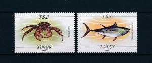 [48277] Tonga 1989 Marine life Crab Fish MNH