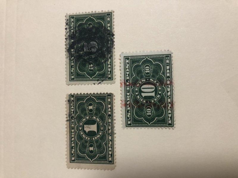 Parcel Post Postage Due Stamps