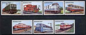 Burkina Faso 1985 Diesel & Electric Locos unmounted m...
