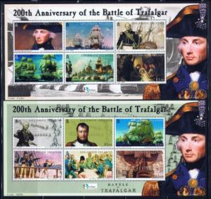 Solomon Is 992-95 NH 2004 200th Anniv of Battle of Trafalgar