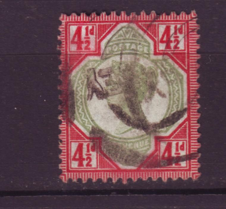 J19734 Jlstamps 1887-92 great britain used #117 queen