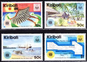 Kiribati Scott 418-421  complete set  F to VF mint OG NH.