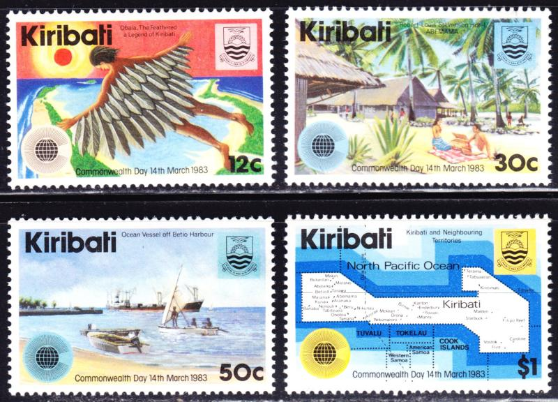 Kiribati Scott 418-421  complete set  F to VF mint OG NH.