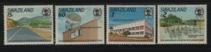 SWAZILAND 551-554 (4) Set, Hinged, 1989 African Development Bank