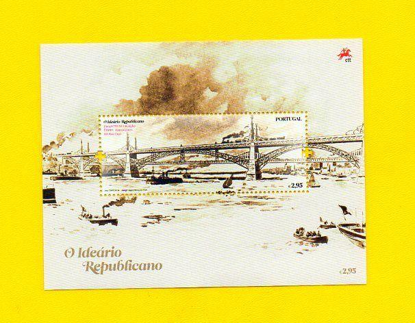 S/SHEET IDEAL REPUBLICAN 2010  PORTUGAL ART TEJO BRIDGE LISBOA LISBON LISBONNE