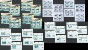 BU08 IMPERF,PERF 2011 BURUNDI FAUNA MARINE LIFE WHALES BALEINES !! 16KB+16BL MNH