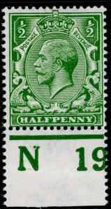 SG351 SPEC N14(12), ½d olive-green, NH MINT. Cat £175. CONTROL N19 PERF.