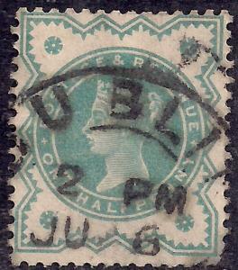 GB 1900 QV 1/2d Blue Green Colour Change SG 213 ( J1200 )