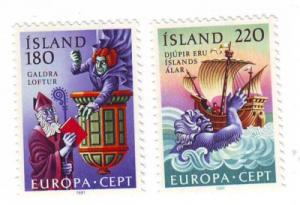 Iceland Sc 541-2 1981 Europa stamp set mint NH