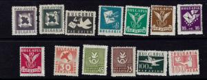 Bulgaria C41-53 MNH 1946 airmail set