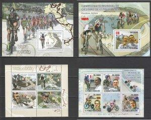 NS106,363 2009 SPORT CYCLING WORLD CUP & GIRO DI ITALIA !!! 2KB+2BL MNH