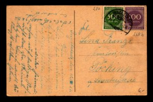 Germany 1923 Inflation Post Card / 400M Value - L7871
