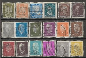 COLLECTION LOT OF #1859 GERMANY 18 STAMPS 1924+ CV+$42