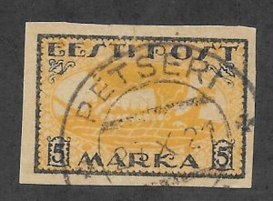 Estonia Scott #35 Used 5M Viking Ship stamp 2018 CV $4.75