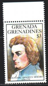 Saint Vincent and the Grenadines. 1992. 1648. Mozart, composer. MNH.