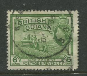 British Guiana - Scott 2587 - QEII Definitive Issue -1954 - FU -Single 6c Stamp