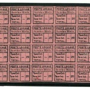 TURKEY Private Post Stamps *Poste Locale* BLOCK OF TWENTY {samwells-covers}1299