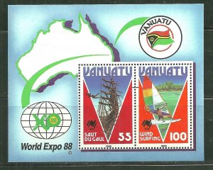 Vanuatu MNH S/S 479 Tourism 1986 SCV 4.50