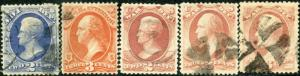 5 USED OFFICIALS STAMPS CHB2026 BM6949