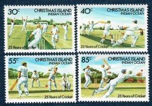 Christmas Island 157-60 MNH Cricket (SCV $2.45)