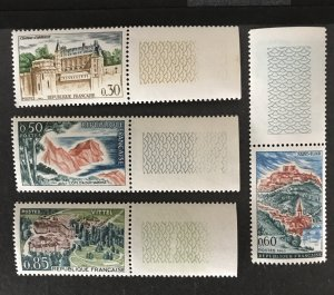 France 1963 #1068-71, MNH, CV $1.95