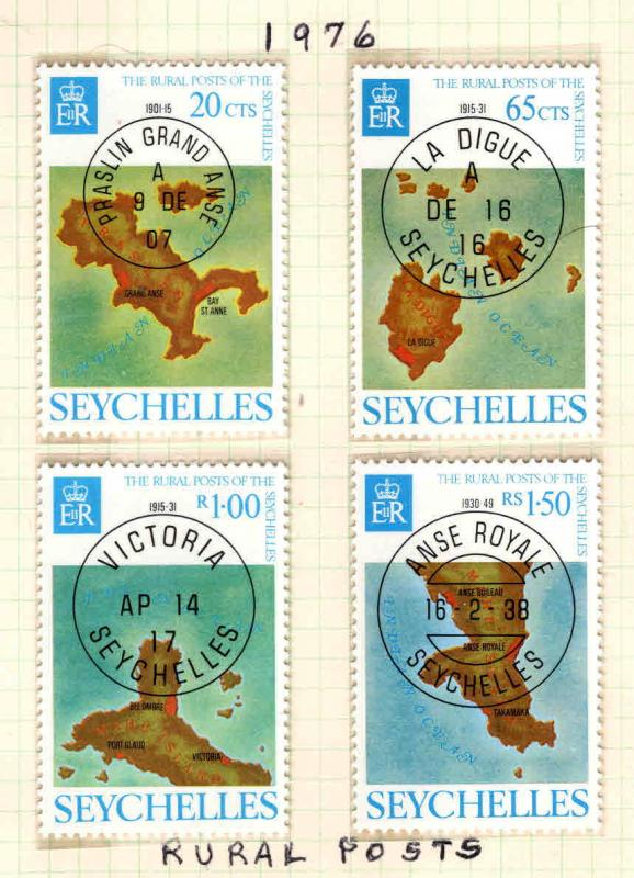 Seychelles Scott 339-342 MNH** Rural posts map set