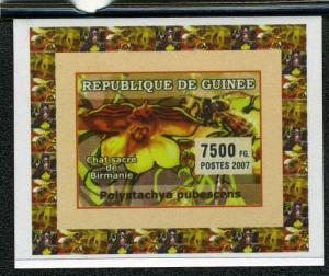 Guinea 2007 ORCHIDS & BEES Deluxe s/s Mint (NH)