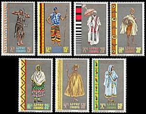 Ethiopia 515-521, MNH, Traditional Attire of Ethiopian Regions