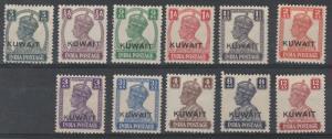 KUWAIT 1945 KGVI BLANK BACKGROUND RANGE TO 12A