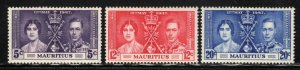 Mauritius # 208-10 ~ Cplt Set of 3 ~ Unused, HMR
