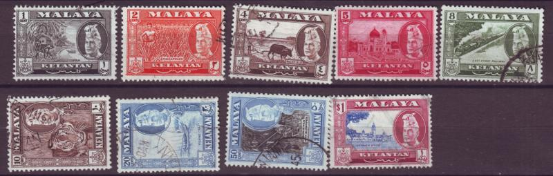 J17929 JLstamps [low price] various 1957 malaya kelantan used #72//80 views
