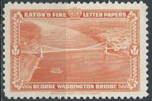 Eaton's Fine Letter Papers, George Washington Bridge (1939) (mlh)
