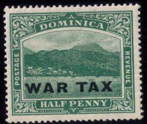 Dominica #MR2 MINT,LH,OG OVERPRINTED WAR TAX VERY FINE
