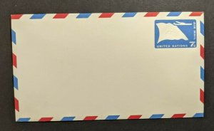 Mint Vintage United Nations Airmail Postal Stationary Envelope 7 Cents