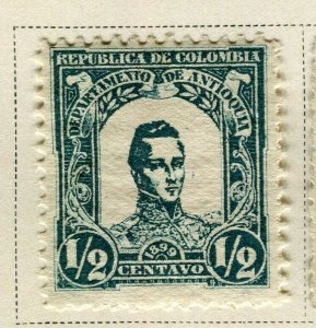 COLOMBIA ANTIOQUIA; 1899 early Bolivar issue Mint hinged 1/2c. value