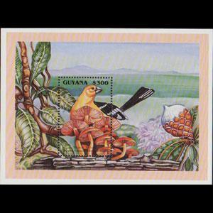 GUYANA 1995 - Scott# 3063 S/S Mushrooms NH