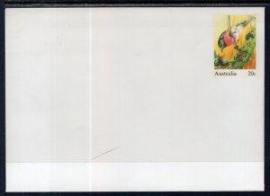 Australia Rose Robin Bird Postal Stationary Unused