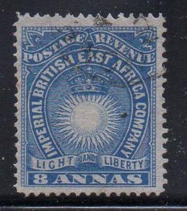 British East Africa Sc 23 1890 8 annas  Sun & Crown stamp used