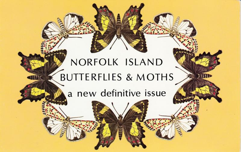 Norfolk Island 1977 Butterflies Set complete in Post Office Pack. VF/NH