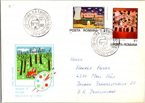 Romania, Worldwide First Day Cover, Art