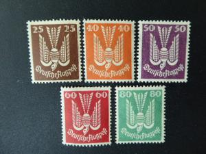 Germany 19422 . Set of 5  Sc.# C3-7     $2.50  LH