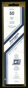 Showgard BLACK Strip Mounts Size 50 = 50 mm Fresh New Stock Unopened