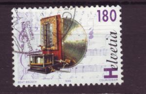 J18534 JLstamp 1996 switzerland hv of set used #981 music