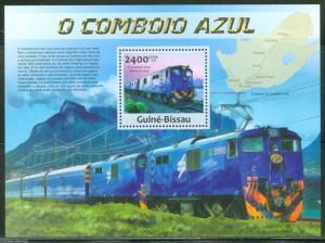 GUINEA BISSAU  2013 THE BLUE TRAIN  SOUVENIR SHEET MINT NH